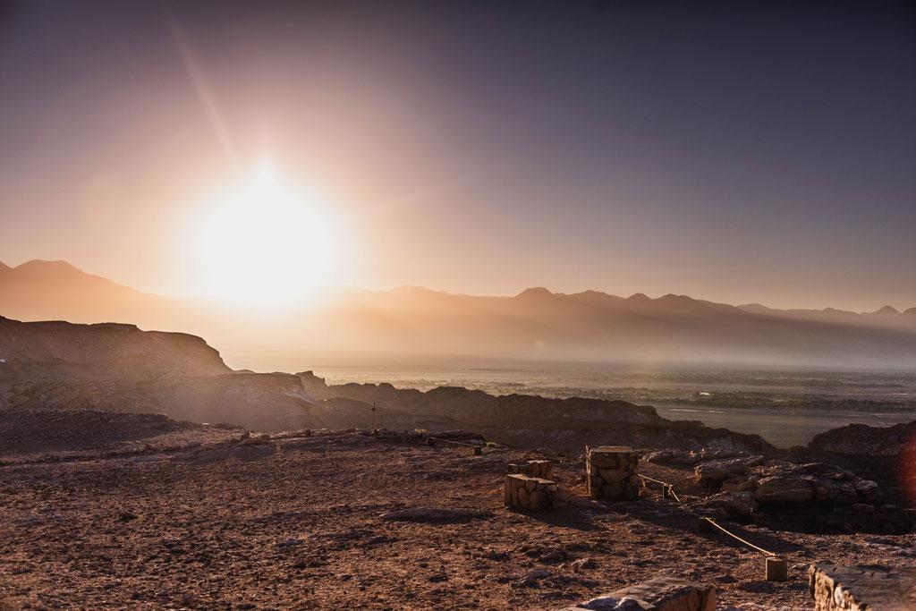 Atacama desert sunrise