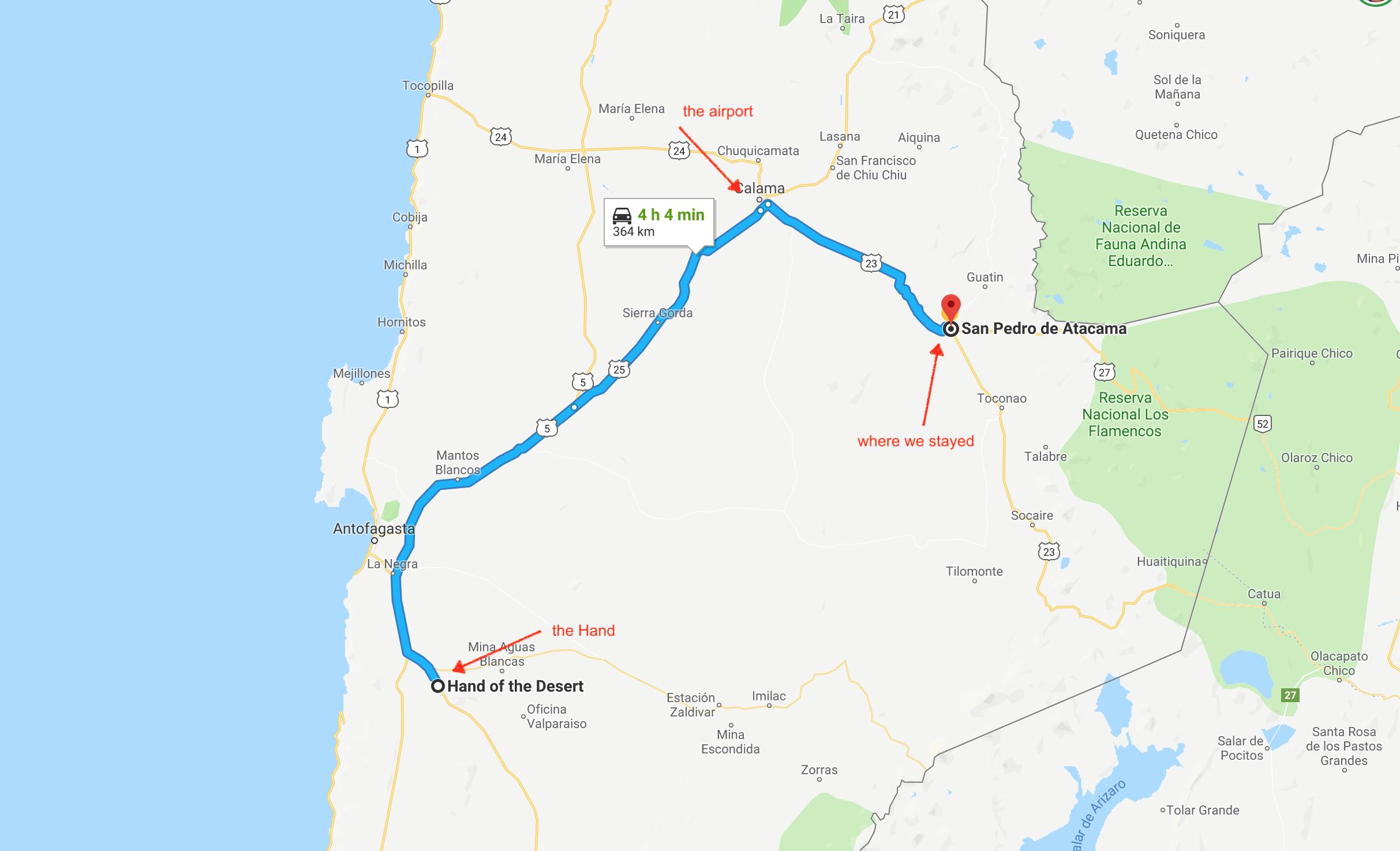 Atacama Desert Map