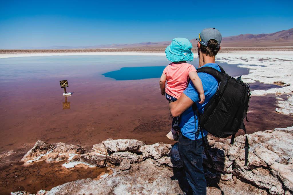 Toddler and Dad at Lagunas Escondidas de Baltinache
