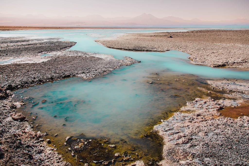 Laguna Chaxa in the Atacama Desert in Chile
