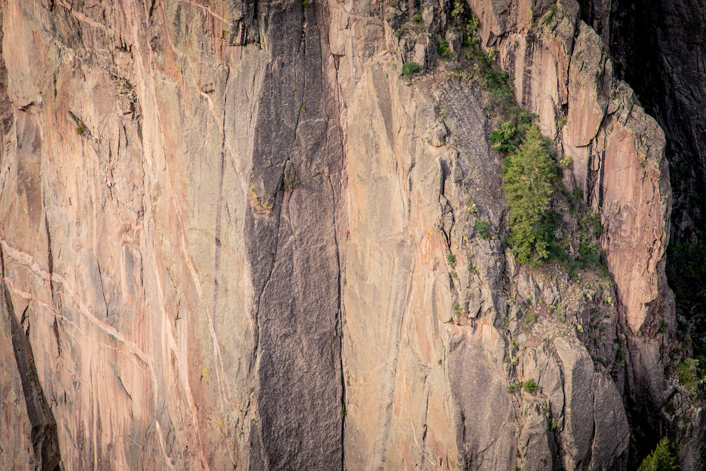 Rock Climber at Black Canyon National Park