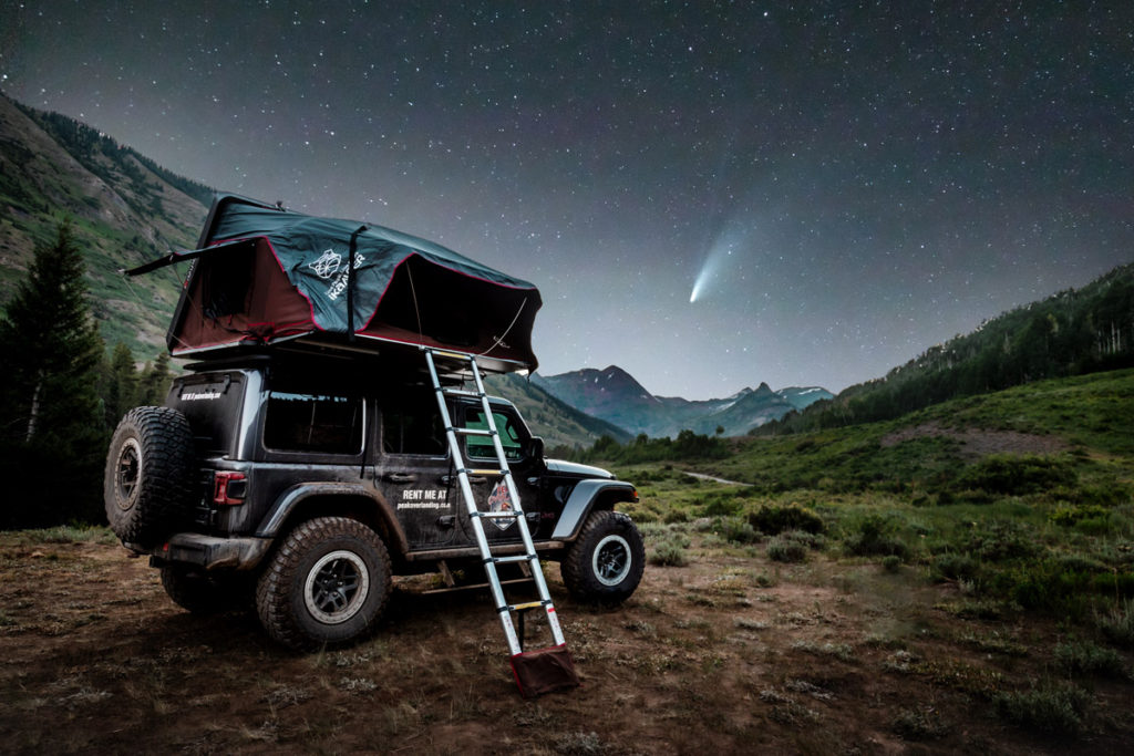 Comet Neowise and Jeep Camping